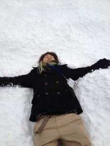 笹尾さん in 積雪